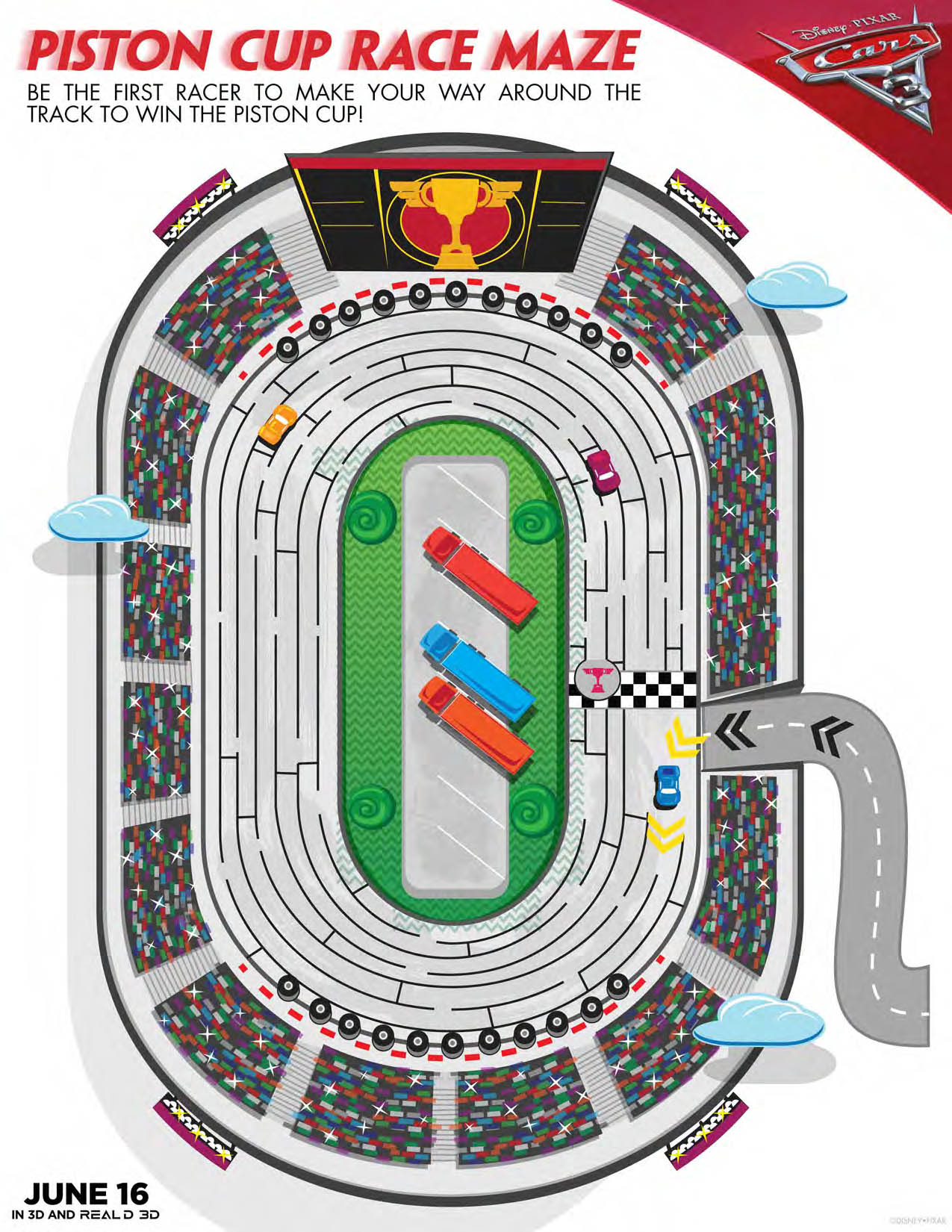 Cars 3 Printable Activities Diy Race Course