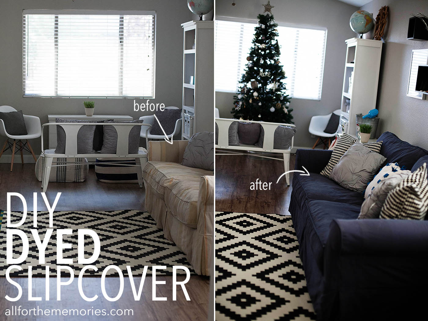 How to Dye a Sofa Slipcover - All for the Memories
