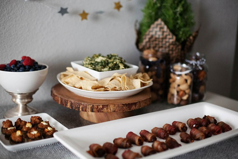 Easy holiday appetizer table