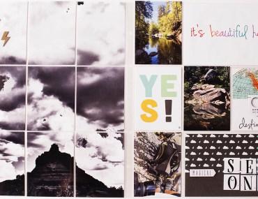 9x12 split photo spread from Allison Waken of All for the Memories