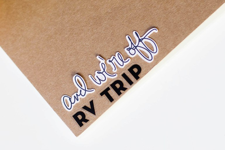 Traveler's Notebook - RV trip from All for the Memories