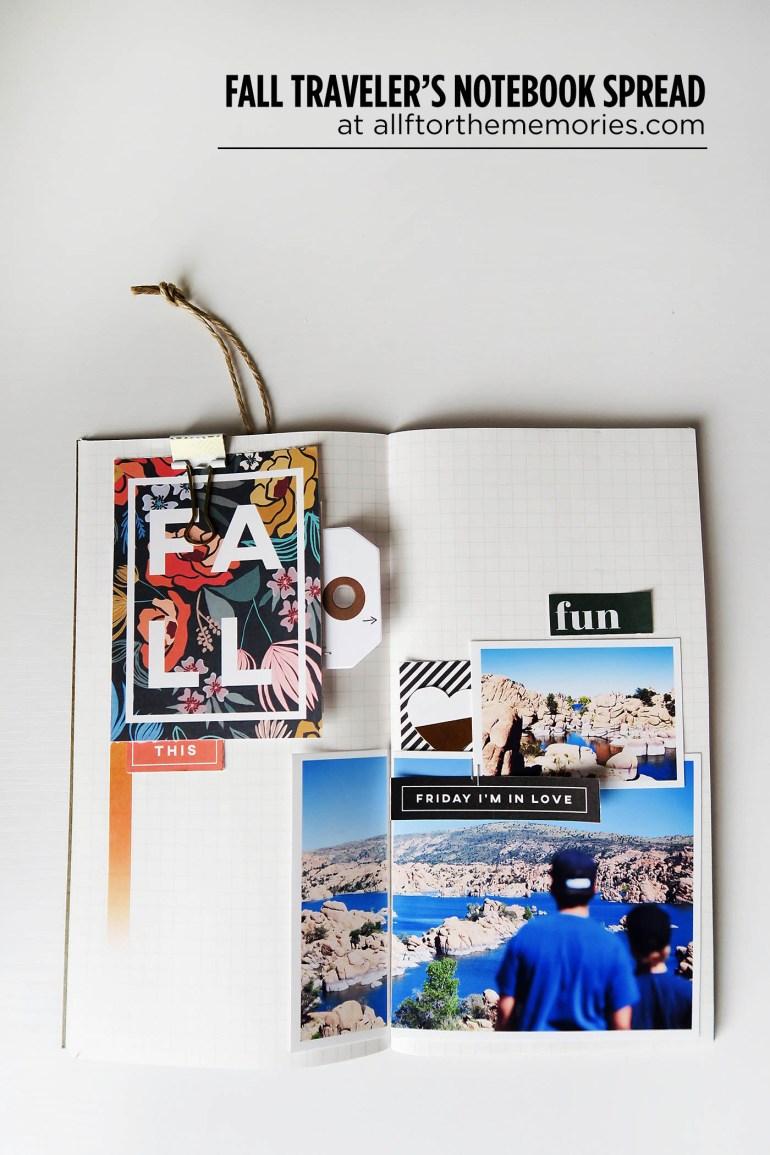 Fall Traveler's Notebook spread at allforthememories.com