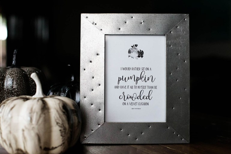 Printable Thoreau Pumpkin Quote for Fall decor