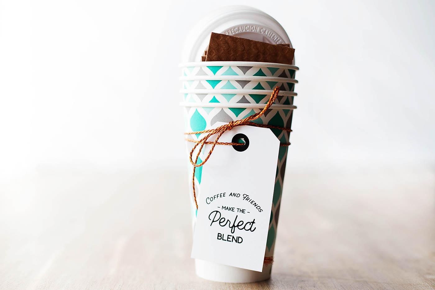 Super cute printable coffee gift tag