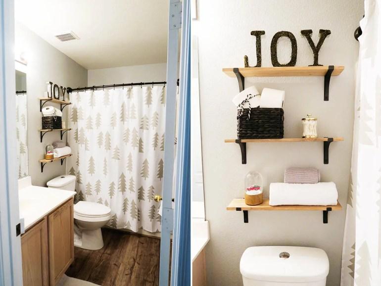 Holiday bathroom decor - after