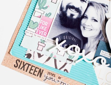 Sixteen Years - scrapbook page by Allison Waken from All for the Memories