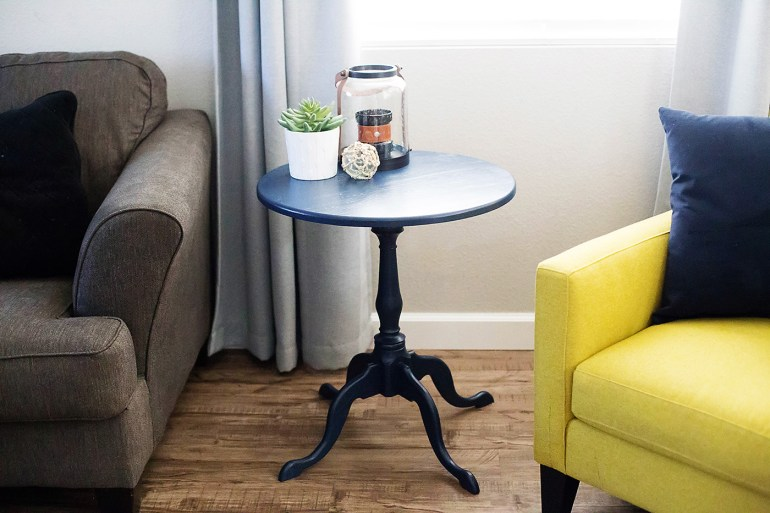 Side table makeover at allforthememories.com