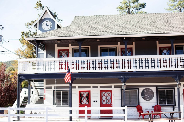 A photo tour of The Strawberry Inn, a Fixer Upper style hotel located near Payson, AZ
