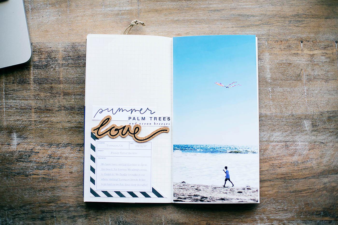 Traveler's Notebook spread by Allison Waken of Allforthememories.com