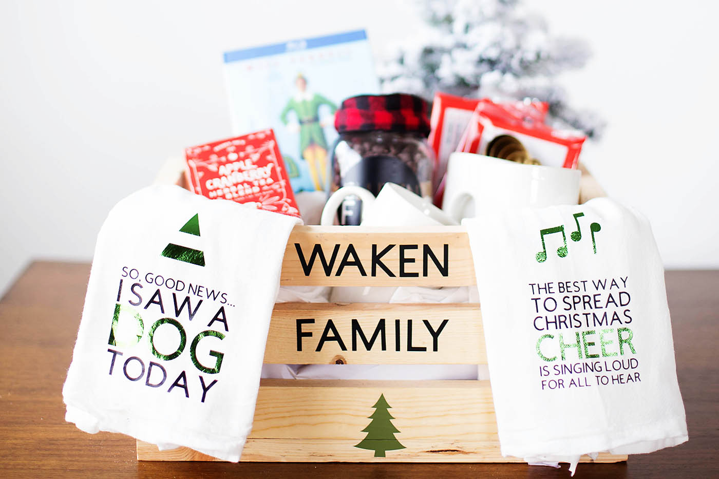 Christmas Eve Family Gift Basket + Cricut Cut Files - All for the ...