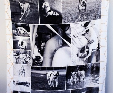 Order a custom photo blanket from Collage.com - what a fun gift idea!