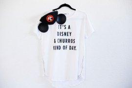 DIY Disney Churro Tee! It's a Disney & churros kind of day.