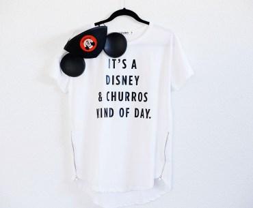 DIY Disney Churro Tee! It's a Disney & churros kind of day.