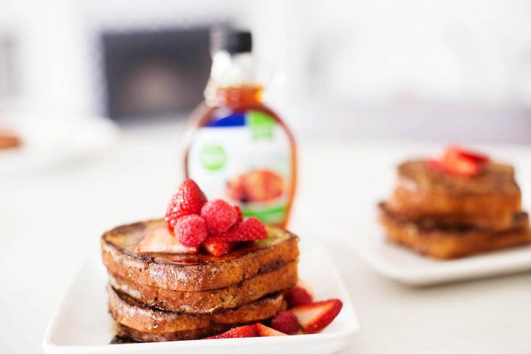 Gluten free hazelnut berry french toast