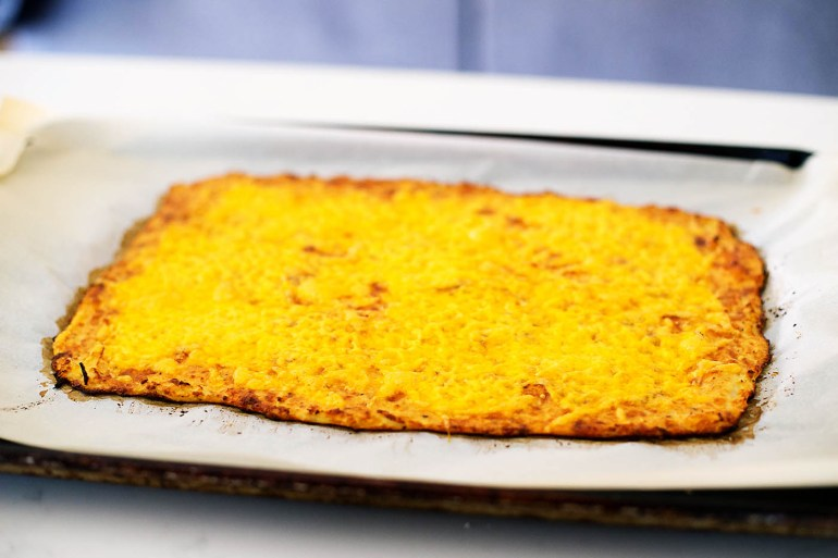 Low carb, gluten free, cheesy cauliflower breadsticks!
