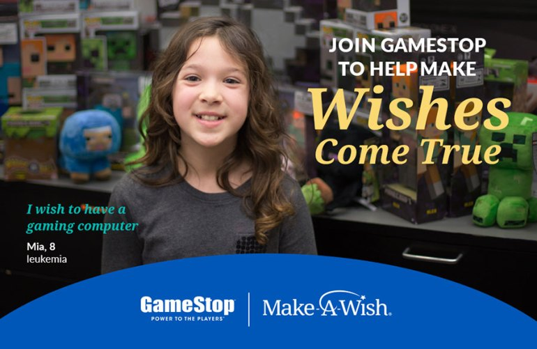 Help GameStop & Make-A-Wish Grant Life-Changing Wishes