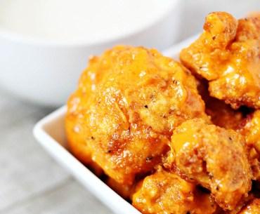 """Skinny gluten-free cauliflower buffalo """"wings"""""""