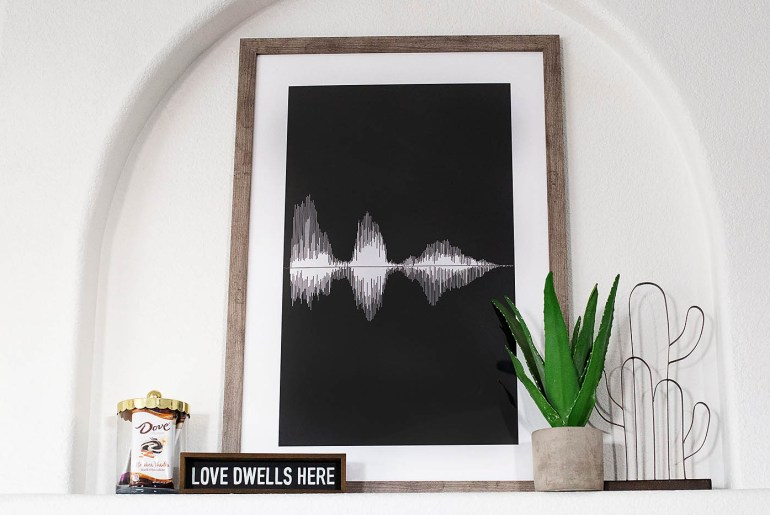 DIY Sound Wave art