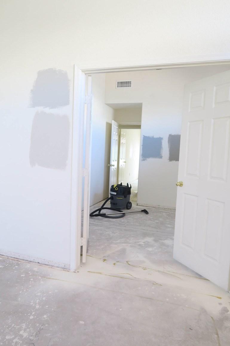 How to paint your interior doors dark grey
