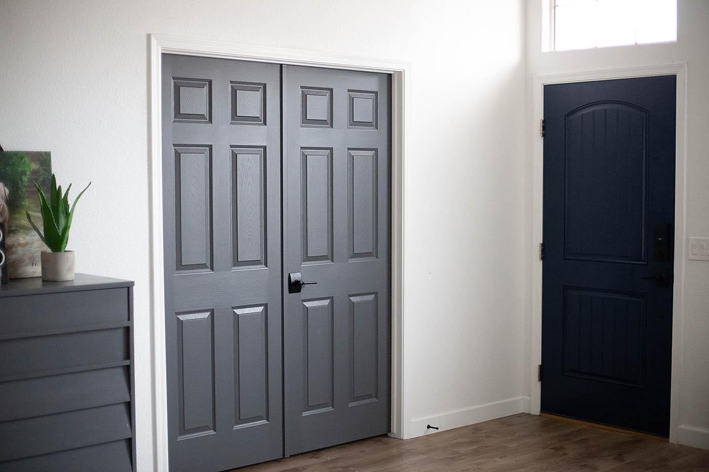 Dark Gray Doors u2013 How to Paint Your Own & Dark Gray Doors - How to Paint Your Own - All for the Memories