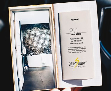 Traveler's notebook pages from Sanctuary Resort stay on Camelback Mountain