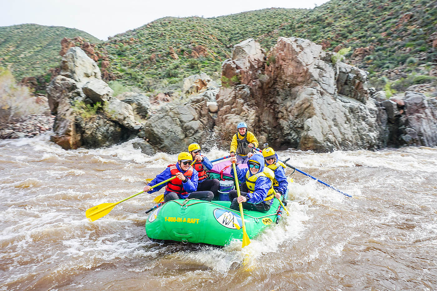 Rafting the Salt River near Phoenix, AZ
