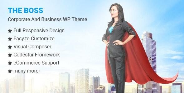 The Boss- Corporate & Business WordPress Theme v1.0.6