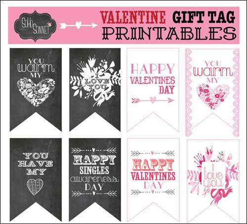 Valentine Printables For Your Romantic DIY Projects