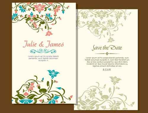 Wedding Invitation Card Design Free Vector Art