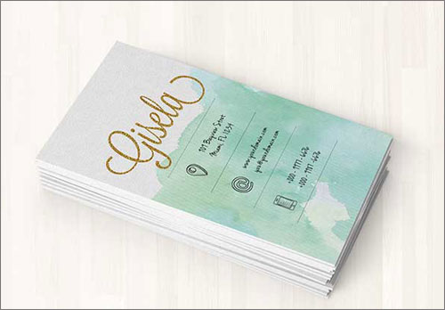 Watercolor Business Card Templates In PSD Format