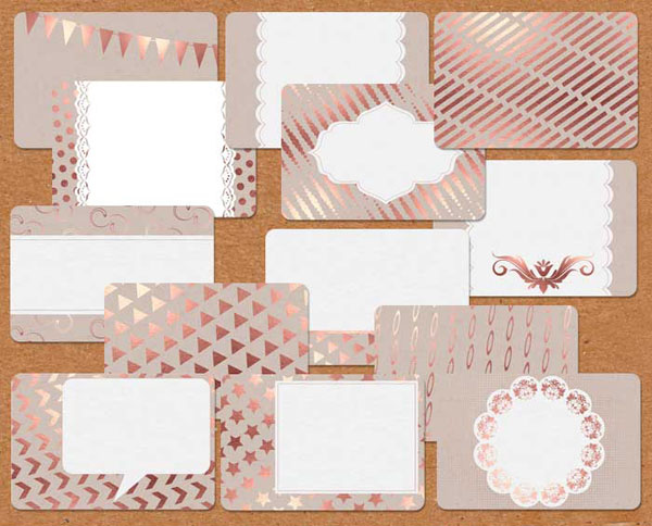 Free Printable Cards Gift Tags In Rose Gold