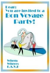 Bon voyage goodbye