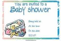 Baby teddy bear shower invitation