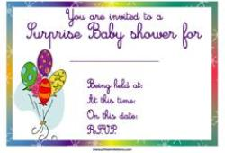 Coloured balloons baby shower invitation