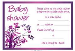 Purple baby shower invitation free