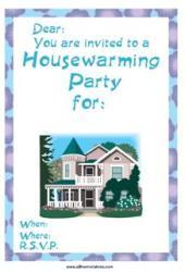 Housewarming invite free printable