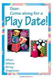 playdate invitation blocks and bubbles
