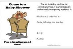 Humourous baby shower invitations