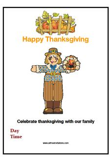 thanksgiving day party free invitation