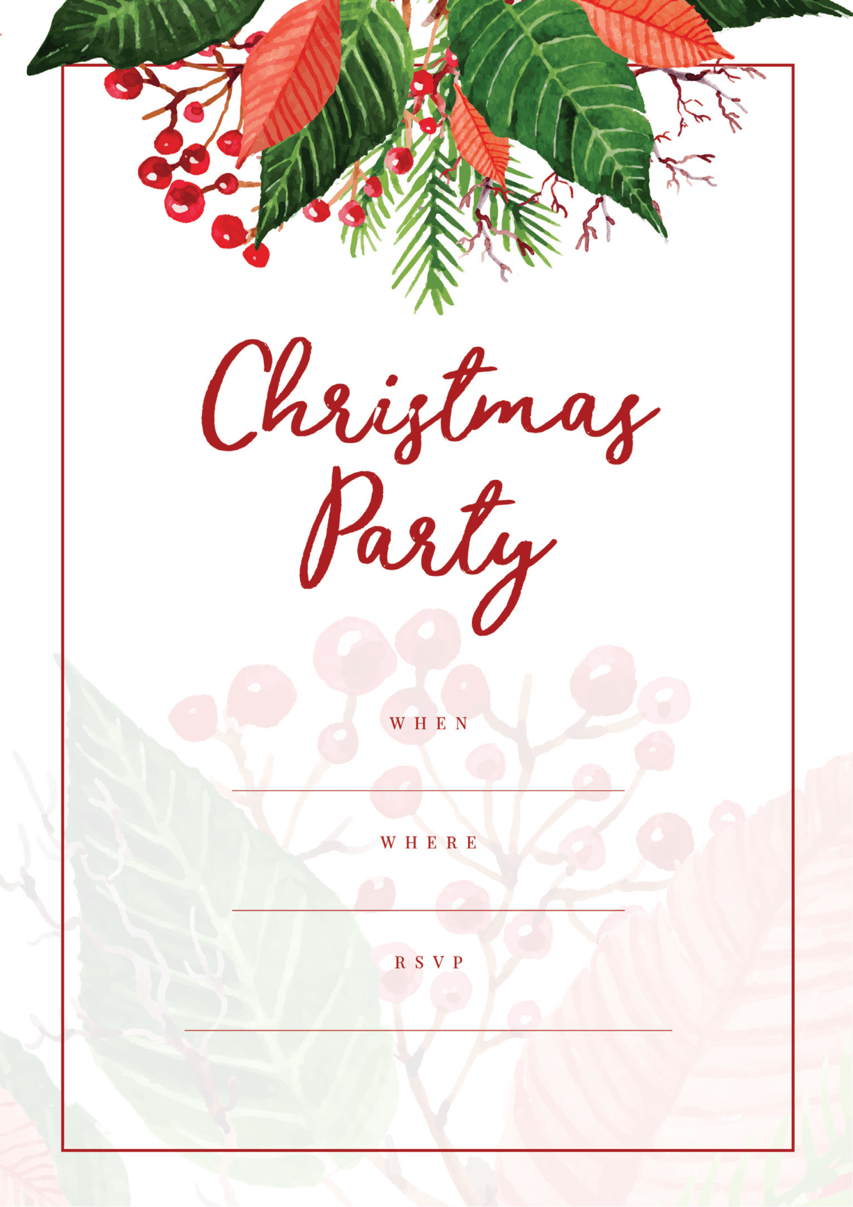 Free Holiday Party Invitations - All Free Invitations