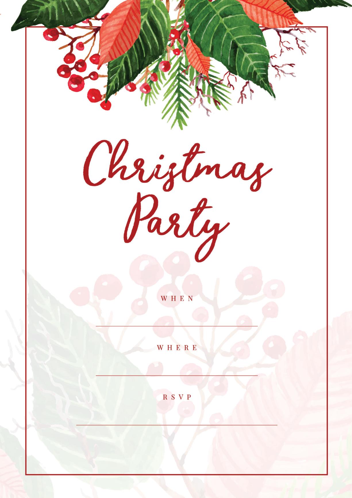 Free Holiday Party Invitations - All Free Invitations