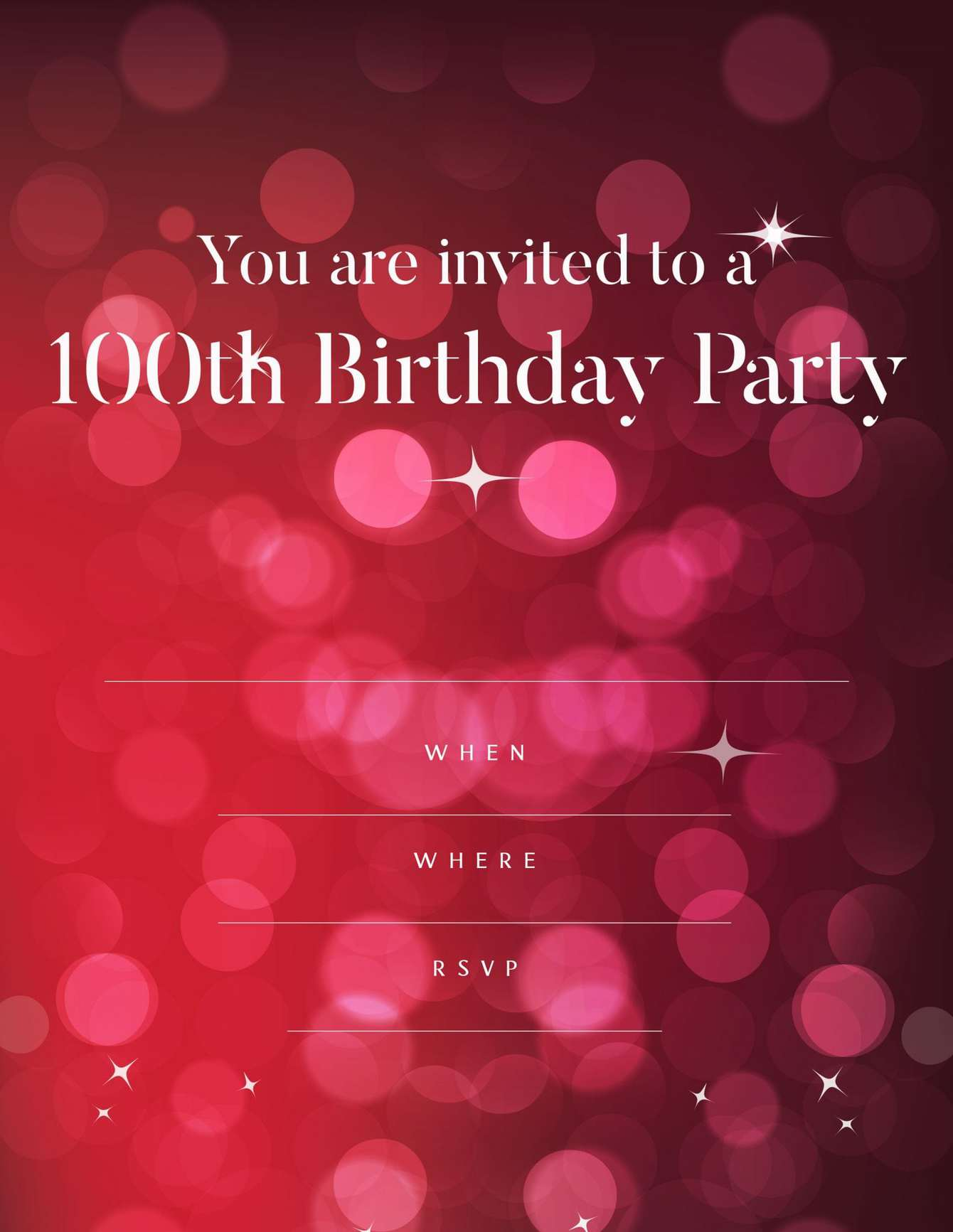 100th red and pink glam design