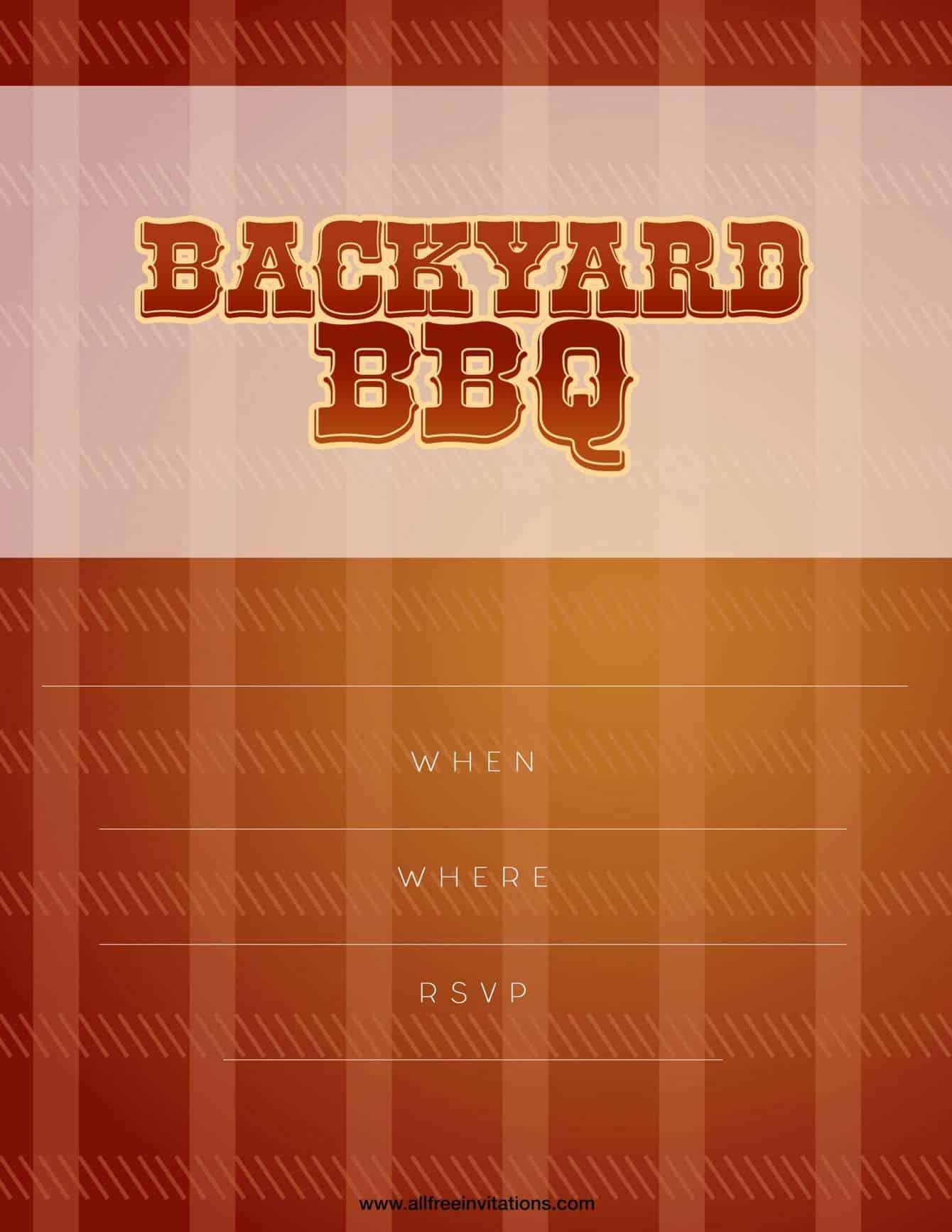 Bbq party invitation modern wood palette design