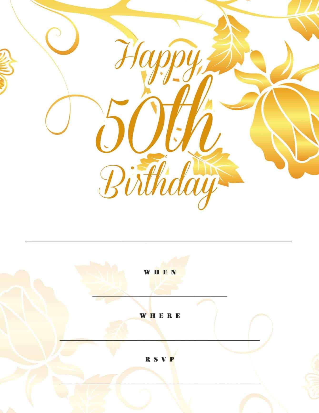 Free Milestone Birthday Party Invitations