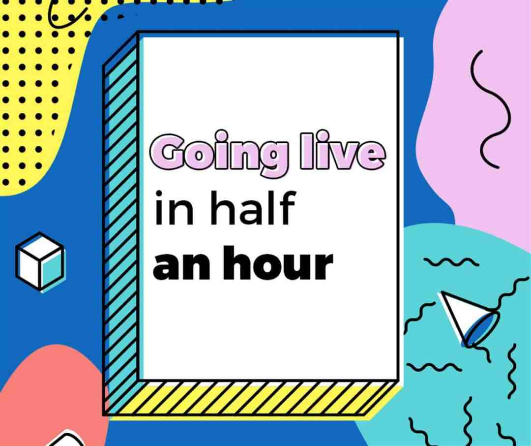 facebook going live in ten minutes free graphic modern cartoon style (Large)