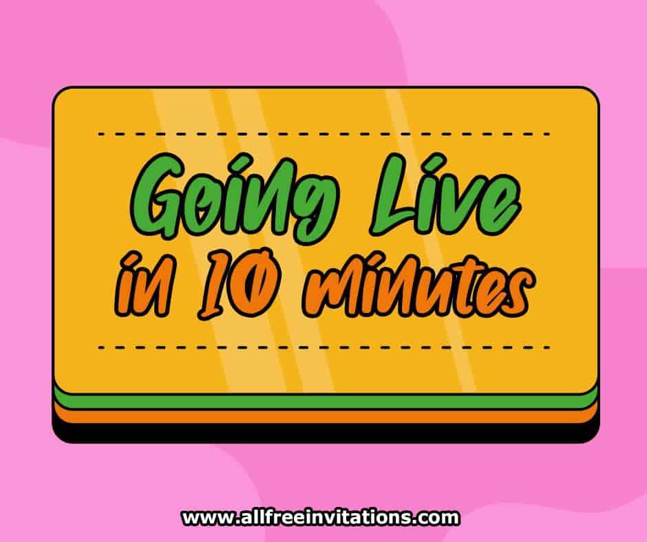 free social media manager graphics - all free invitations - 10 min warning