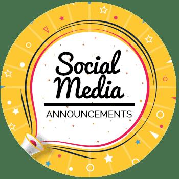 Social Media Announcements - All Free Invitations