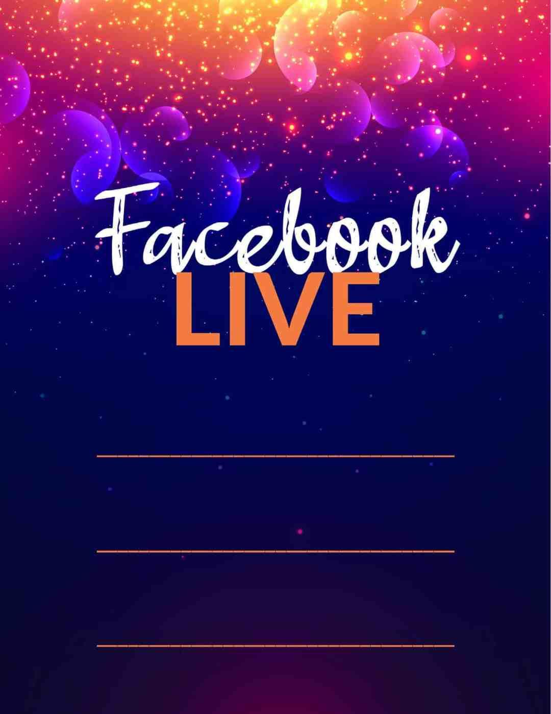 Facebook Live Invitations - Blue Purple - All Free Invitations