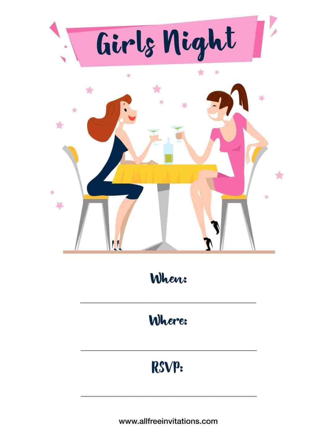Free Girls Night Out Invitations - All Free Invitations