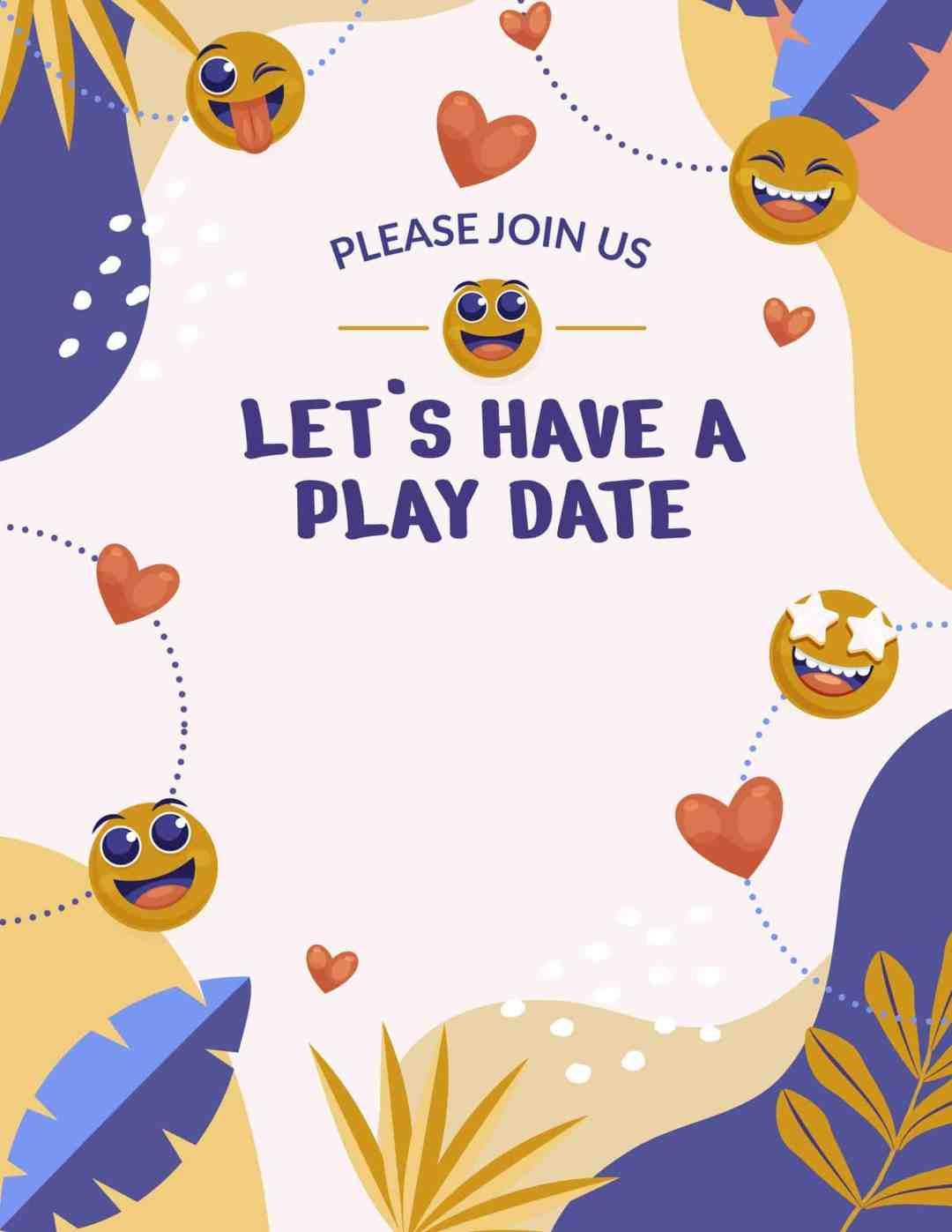 Free Play Date Invitations - All Free Invitations